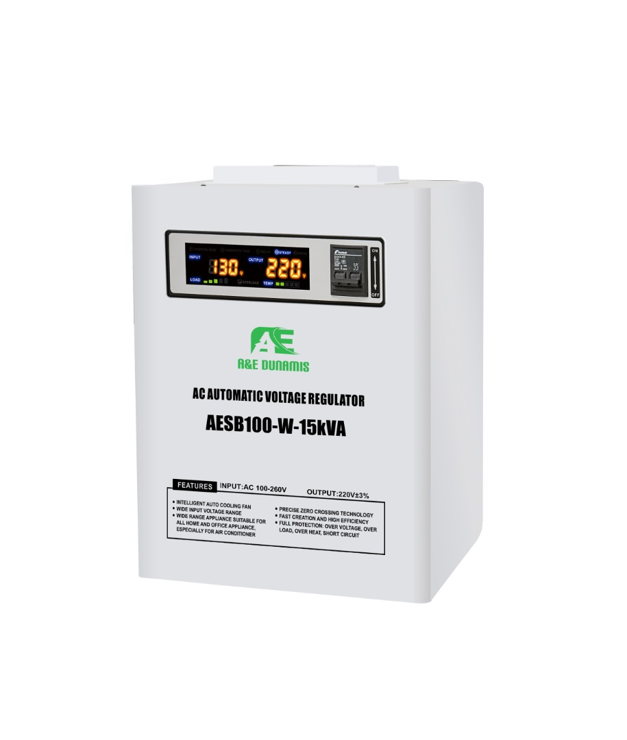 A&E 15KVA Single-Phase Servo Voltage Stabilizer 100v-260v
